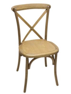 Specialty Chair Natural Wood Cross Back Chairs